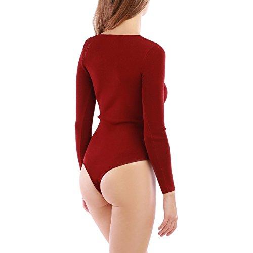 La Modeuse - Body - para mujer Rojo