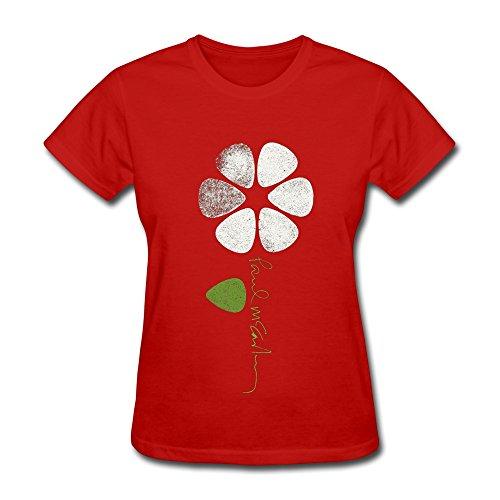 YZ Paul Mccartney Logo T Shirt For Women Red (St Jude Logo)