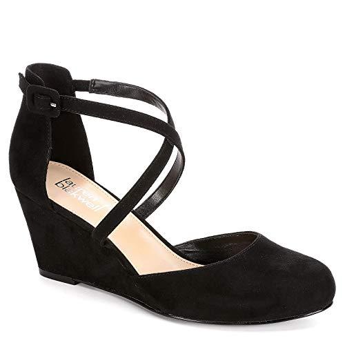 (Lauren Blakwell Womens Ginna Wedge Pump Shoes, Black, US 12)