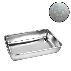 Sheet Pan Cookie Sheet Hotel Pan Heavy Duty Stainless Steel Baking Pans Toaster Oven Pan Jelly Roll Pan Barbeque Grill Pan Deep Edge Superior Mirror Finish Dishwasher Safe 11 22x14 25x2 36 Inches