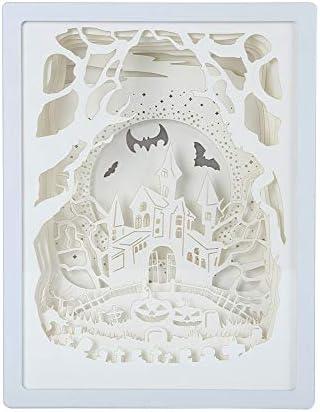 BTFirst 家の寝室の枕元のための芸術の装飾3DのペーパーカービングライトランプLEDの誕生日プレゼント LEDライトシャドーペーパーカービングランプ3Dステレオナイトライト