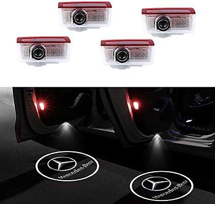 Proyector de luces LED para puerta de coche con logo de Mercedes ...