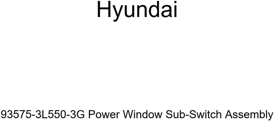 Genuine Hyundai 93575-3L550-3G Power Window Sub-Switch Assembly