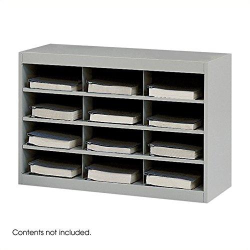Scranton & Co Grey Steel Mail Organizer - 12 Compartments by Scranton & Co