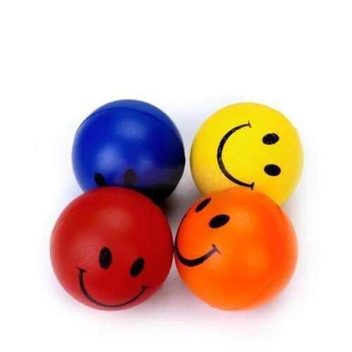 Wholesale LOT 12Pcs Happy Smile Face Stress Relief Foam Bouncy Squeeze Ball (Wholesale Bouncy Balls)
