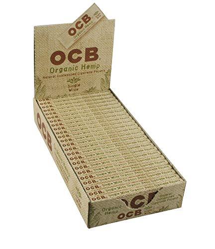 - OCB Organic Hemp Rolling Papers Single Wide Size - Full Box (24 Books)