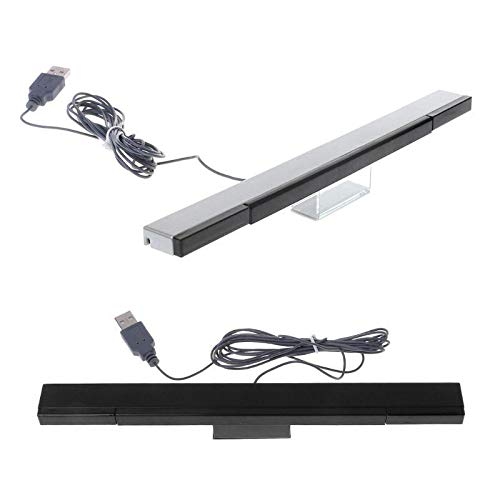 Calvas Control Infrared TV Ray Wired Remote Sensor Bar Receiver For WII Games Wired Sensor Signal Receiver WII Wired Sensor by GIMAX
