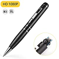 Hidden Camera Pen,Spy Camera with Video, 16GB Memory and 2 Hour of Recordings Time, 1080P HD Covert Cam with 3 Replaceable Ink Refills for Business/Daily Activities, USB Port Aluminum Alloy Body