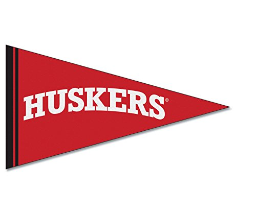 NCAA University of Nebraska Felt Pennant Magnet, 2.5