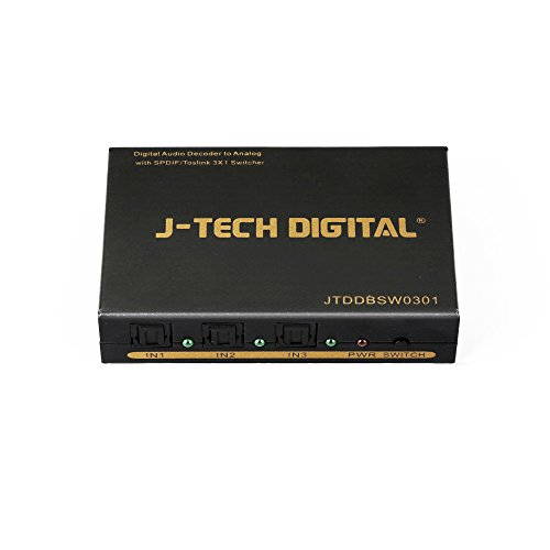 1 X Analog (J-Tech Digital JTDDBSW0301 Digital to Analog Audio Decoder with SPDIF/Toslink 3X1 Switch Support 5.1-Channel Audio)