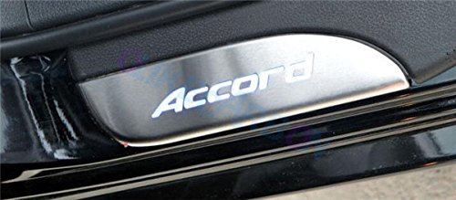 For Honda Accord 2013 14 15 16 2017 9TH Sedan Fashion Style ABS+Chrome Door Sill Scuff Plate ...