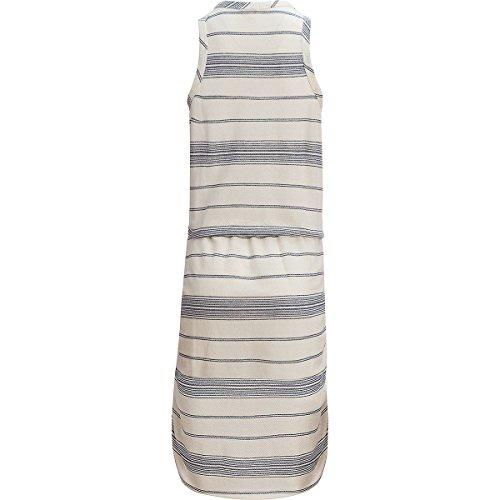 Dylan Par Fil De Coton Maritime De Véritables Femmes De Bandes Abrasives Colorant Robe Sans Manches Malibu Blanc / Indigo