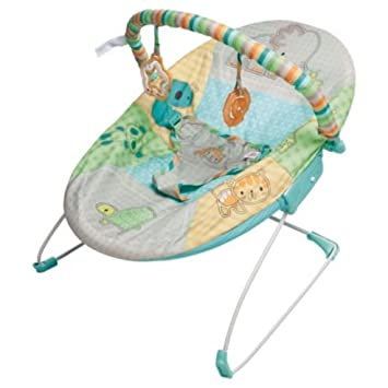 d0502ab96 Bright Starts Patchwork Zoo Baby Bouncer  Amazon.co.uk  Baby