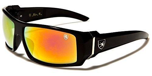 beachhutsunglasses Logo NUEVO Brillante UV400 INCLUIDO Negro Gafas Deportivo Khan MICROFIBRA Plata GRATIS Protección Lente BOLSA COMPLETO de Entallado Diseñador Espejo Naranja Espejo Hombre sol Rectangular 1r16qFw
