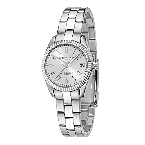 SECTOR Women's 240 Analog-Quartz Sport Watch with Stainless-Steel Strap, Silver, 18 (Model: R3253579518