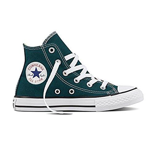 Converse Kids Chuck Taylor All Star High Top Fashion Shoe, Dark Atomic Teal Size 1.5Y Dark Atomic Teal