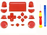 eLUUGIE Replacement Red L1 L2 R1 R2 Repair Buttons+ Screwdriver PS4 New Version JDM-030 Thumbsticks Dpad Home Buttons Touch Pad Solid Ps4 Controller Thumb Grips Replacement For PS4 Controller Gen 2 Review