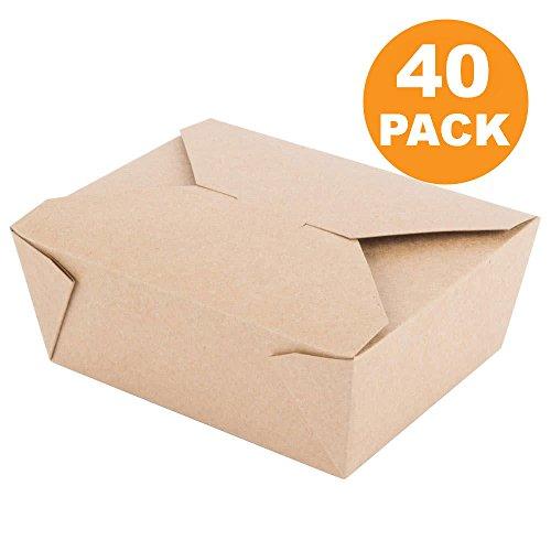 "45 oz 6 x 5.75 x 2.5"" Disposable Paper Take Out Food Contai"