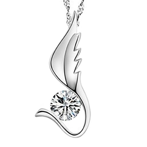 We Are Angels of One Wing, Embracing Each Other to Fly Sterling Silver Pendant Necklace