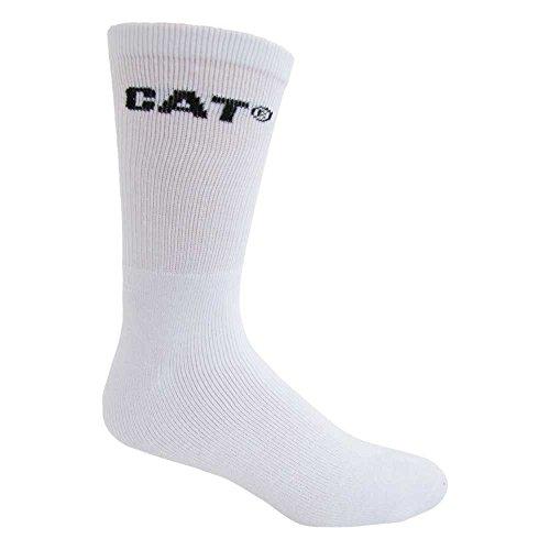 Caterpillar Men's Workwear Socks 6 Pack, White, Sock Size: 10-13/Shoe Size:9-11 from Caterpillar