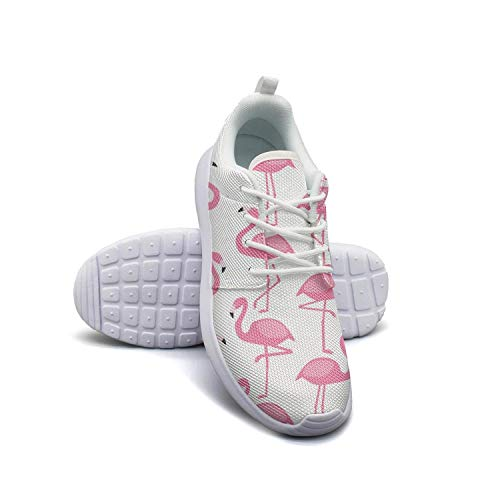 Women's Athleisure Sneakers Flamingos Pattern Ultra Lightweight Breathable Mesh Christmas Fashion Shoes