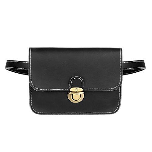 Vbiger Gürteltasche Damen Bauchtasche Hüfttaschen für Frauen (Schwarz7)