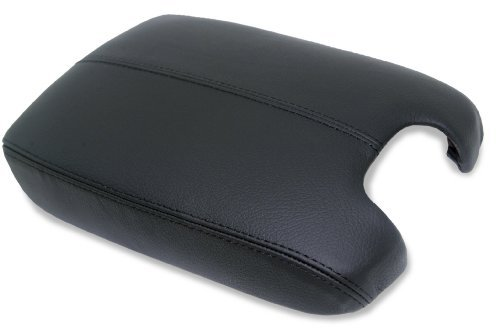 Honda Accord Leather Console Lid Armrest Cover Black (Leather Part Only) by AAAUPHOLSTER