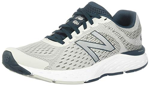 New Balance Men's 680v6 Cushioning Running Shoe, Summer Fog/Supercell/Grey, 11.5 XXW US