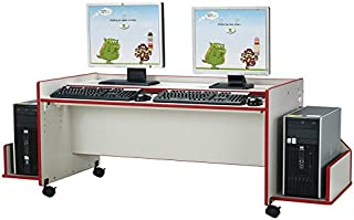 product image for Jonti-Craft Rainbow Accents Enterprise Computer Desk Red/Single Desk