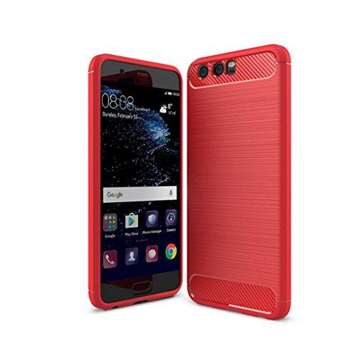 Funda Huawei P10 Plus,Funda Fibra de carbono Alta Calidad Anti-Rasguño y Resistente Huellas Dactilares Totalmente Protectora Caso de Cuero Cover Case Adecuado para el Huawei P10 Plus D