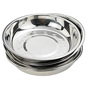 Amazon.com: nicesh 7.9 inch Acero Inoxidable Cena Plato ...