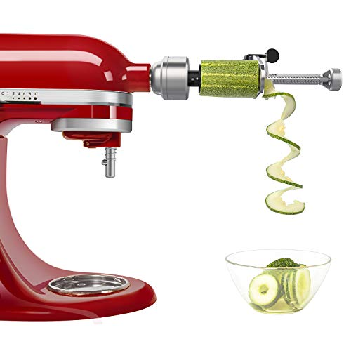 Spiralizer Attachment (7 Blades) Compatible with KitchenAid Stand Mixer, Comes with Peel, Core and Slice, Vegetable Slicer