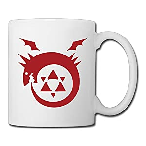 Christina Fullmetal Alchemist Logo Ceramic Coffee Mug Tea Cup White