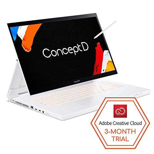"ConceptD 7 Ezel CC715-71-789C Convertible Creator Laptop, Intel i7-10875H, GeForce RTX 2070 Max-Q 8GB, 15.6"" 4K UHD IPS, Pantone Validated, 100% Adobe RGB, 32GB DDR4, 1TB NVMe SSD, Wacom EMR Pen"