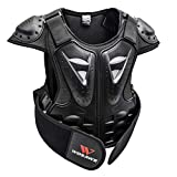 SM SunniMix Professional Kids Motorcycle Vest Support Dirt Bike Chest Protector with Reflection Marking - L