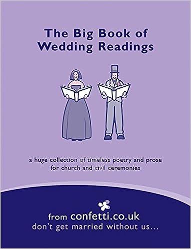 The Big Book Of Wedding Readings Amazoncouk ConfettiCoUk 9781840914818 Books