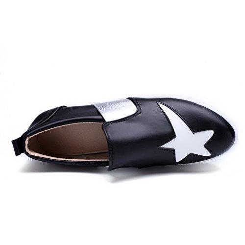 imitation Noir cuir pumps graffiti Motif assorties balamasa shoes Mesdames couleurs R0nwzqYXC