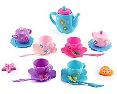 Princess Royal Tea Party Pretend Playset for Kids, 21-Piece