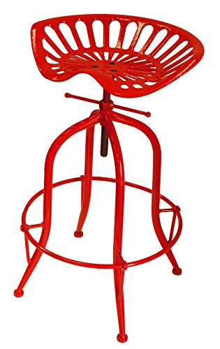 32 Bar Stools (NACH Vintage Style Adjustable Tractor Seat Bar Stool with Circle Base Foot Rest , 19.5x14.5x26-33