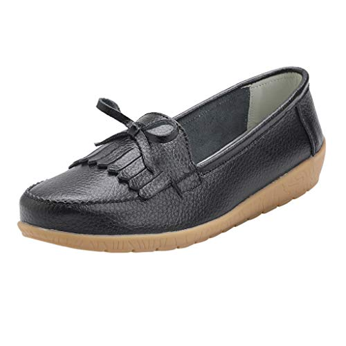 Midress Women's Ladies Leather Soft Mocassins Casual Flat Boat Shoes Loafers Sneakers Women's Slip-on Loafers Flat Casual Driving Shoes