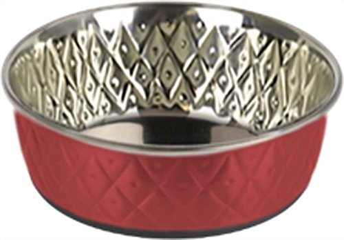 Our Pets Premium DuraPet Slow Feed Dog Bowl Large Heavy Duty Stainless Steel
