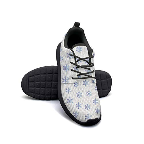 Christmas Snowflakes Pattern Women Flat Bottom Casual Shoes Fashion Classic Running Shoes