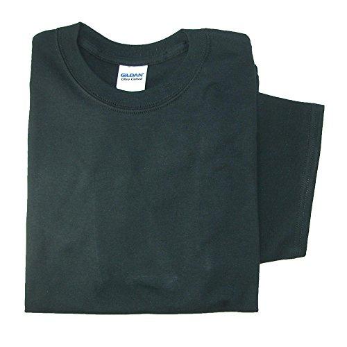Gildan Men Big and Tall Classic Crew Neck T Shirt, 5XL, Black