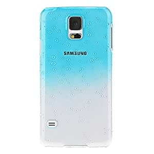 GJYWater Drop Pattern Plastic Hard Case for S5 (Blue)