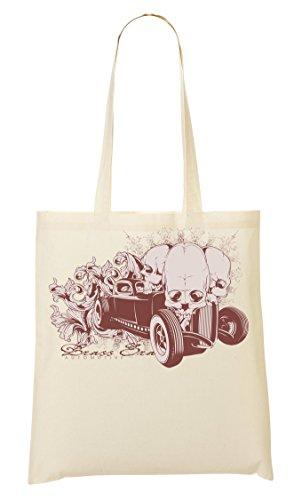 Brass Era Skulls Car Bolso De Mano Bolsa De La Compra