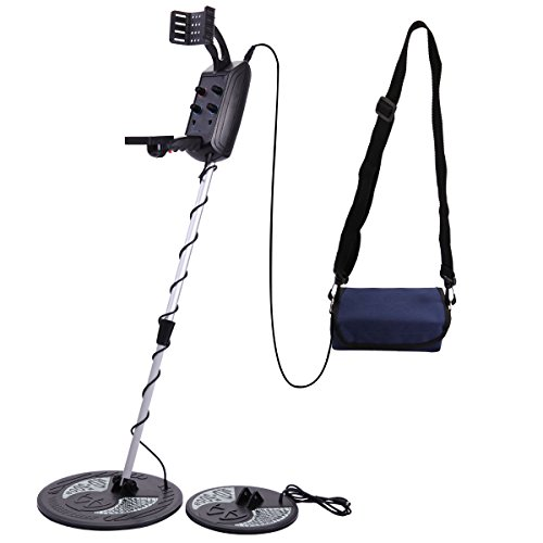 LAZYMOON MD-5008 Underground Metal Detector Deep Coil Sensitive Searching Gold Digger Hunter, Black