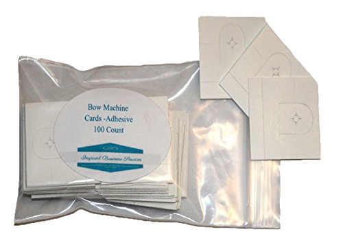 S-72 Machine Bow Cards, for hand made bows -Adhesive backed- 100 count