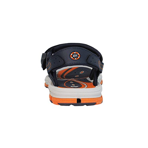 """GP9177 Breathable Wasser Sandalen für Kid Männer Frauen, einfache """"SNAP LOCK"""" Magnetschnalle 7649-Marine Orange"""