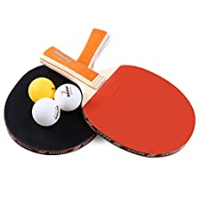 SmartLife REGAIL A508 Table Tennis Ping Pong Racket Two Long Handle Bat Paddle Three Balls