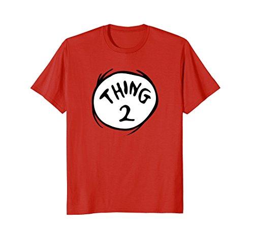 Womens Emblem - Dr. Seuss Thing 2 Emblem RED T-shirt